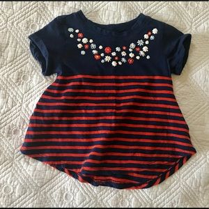 Old Navy Red White and Blue Swing T-shirt